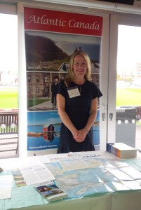 Kelley Keefe, ACAT UK Program Manager, represents Atlantic Canada at the recent Destination Canada UK roadshow, April 2017.