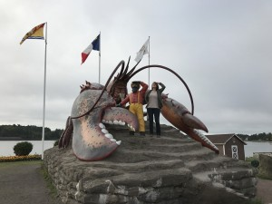 "Katherine Henry with the World's Largest Lobster in the ""Lobster Capital of the World"" Shediac, NB."