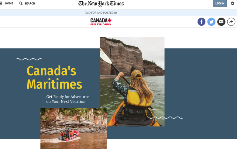 The New York Times, Canada's Maritime Feature