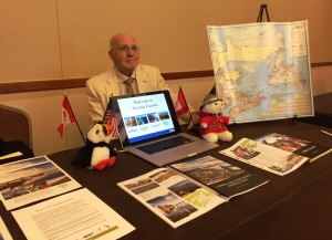 Ken Erickson, representing Atlantic Canada, Anderson Vacations Travel Agent Event in Seattle