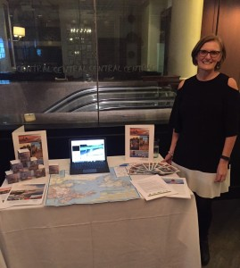 Molly Aylward representing Atlantic Canada, Anderson Vacations Travel Agent Event in Boston