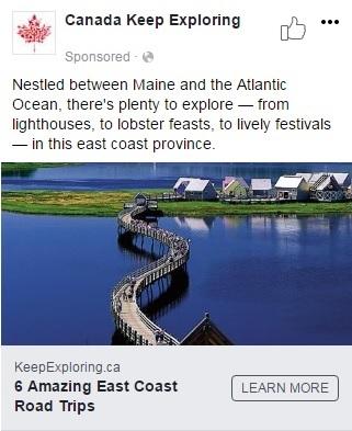 Publication Facebook d'Accueillir l'Amérique - Nouveau Brunswick