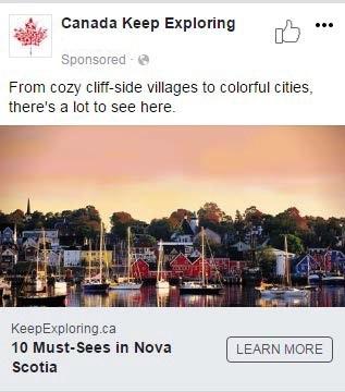 Publication Facebook d'Accueillir l'Amérique – Nouvelle Écosse