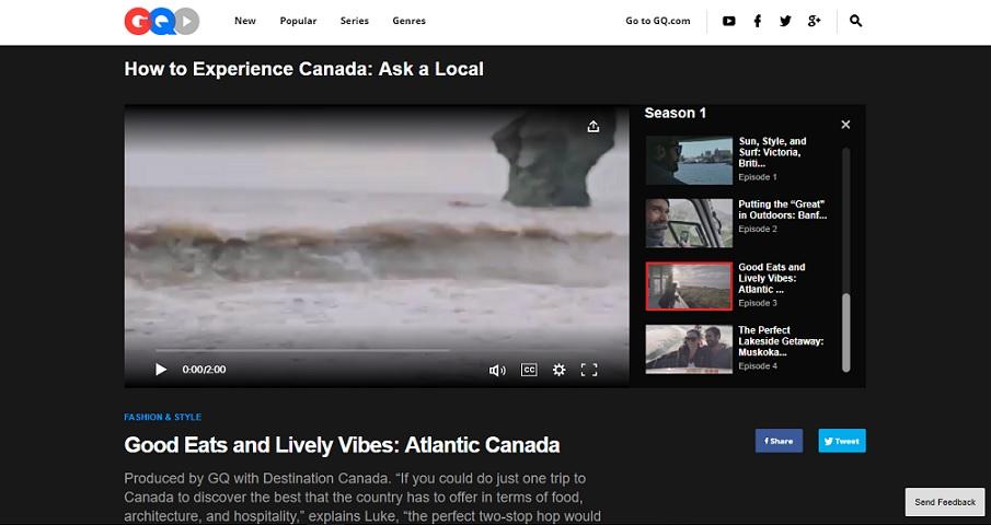 Comment expérimenter le Canada selon les habitants locaux, d'après GQ