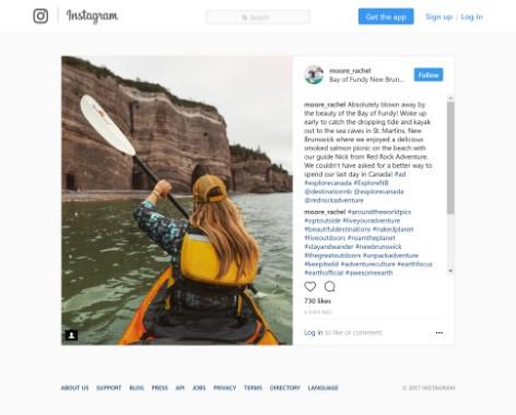 New York Times - New Brunswick Instagram