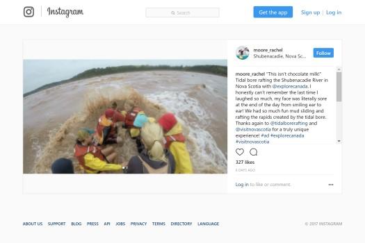 New York Times - Nova Scotia Instagram