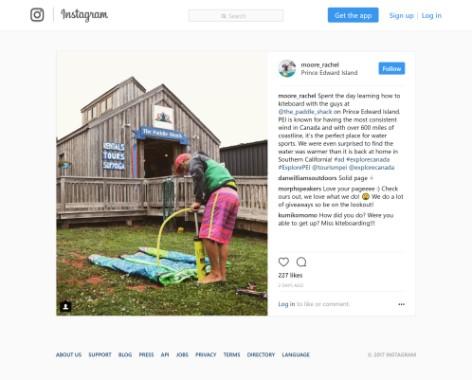 New York Times - Prince Edward Island Instagram