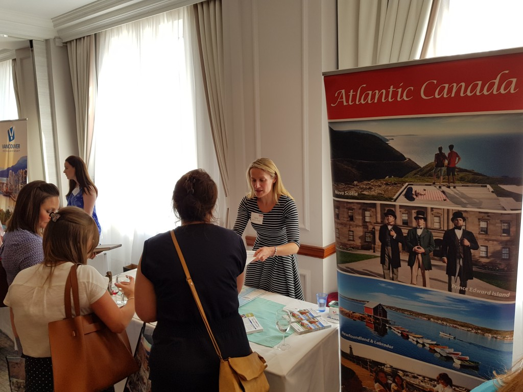Kelley Keefe, ACAT, promotes Atlantic Canada to UK travel agents